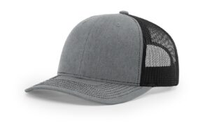 R112 Heather Grey Black
