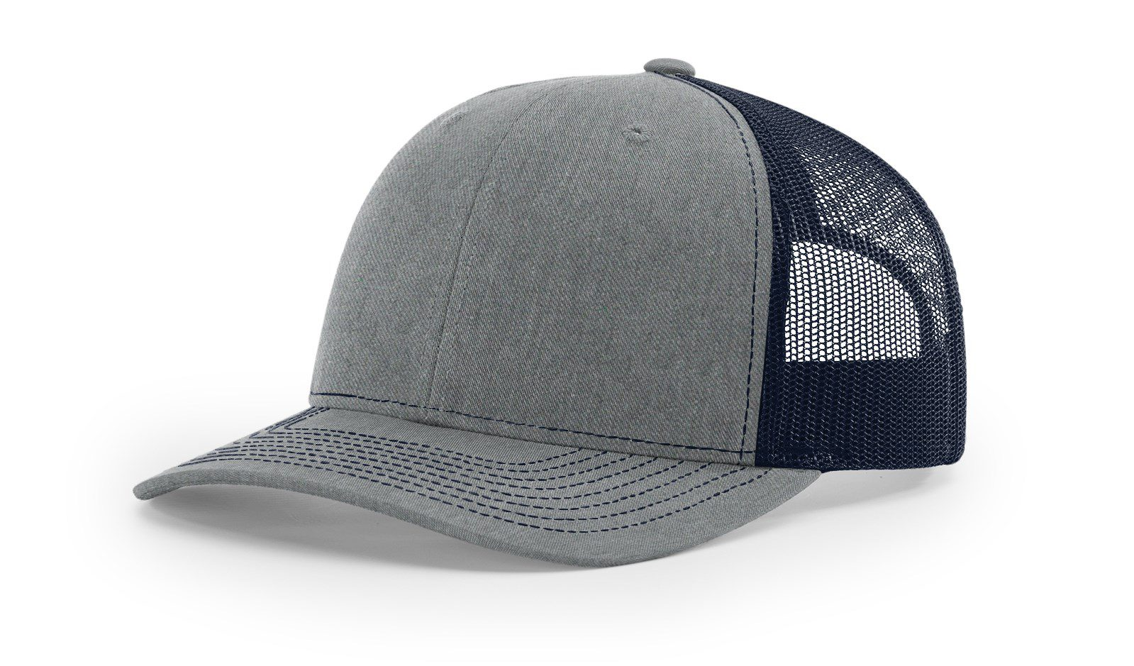 R112 Heather Grey Navy